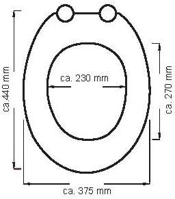 EISL EDLW05 Si/ège de toilette en bois MDF avec assise en bois LIGHT Wood Compatible avec toutes les cuvettes de WC courantes Mod/èle bois