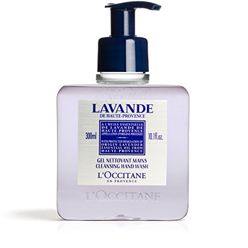 L'Occitane Cleansing Lavender Liquid Hand Soap with Lavender Essential Oil, 10.1 fl. - Lotion Lavender Hand Loccitane
