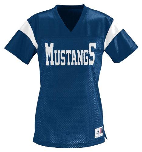 Augusta Ladies Junior Fit Pep Rally Replica T-Shirt, NAVY/WHITE, (Pep Rally Items)
