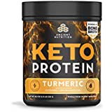 Altertum Nutrition KetoPROTEIN Powder Turmeric, 17 Servings - Keto Diet Supplement, High Quality Low Carb Proteins and Fats from Bone Broth and MCT Oil