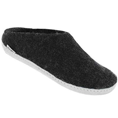 Glerups Womens Model B Natural Wool Open Slipper