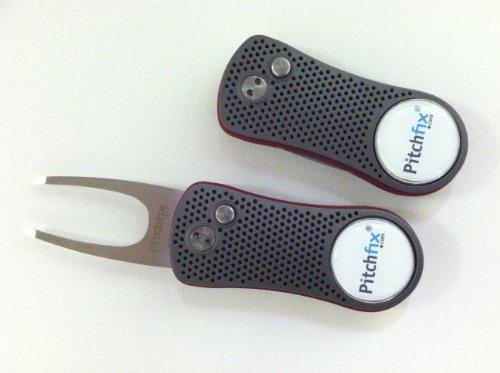 Pitchfix Divot Tool (Gunmeta/Red)