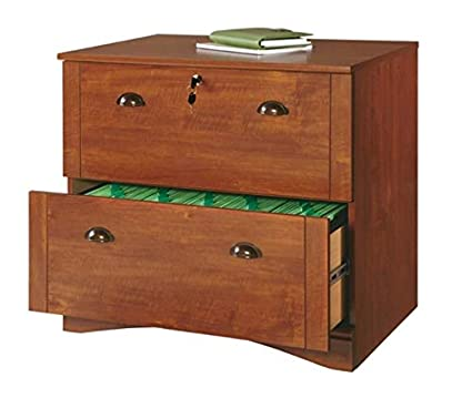 2 drawer lateral file cabinet solid wood realspace dawson 2drawer lateral file cabinet brushed maple amazoncom