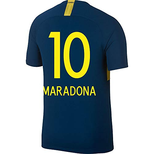 Nike Boca Juniors Home Maradona 10 Jersey 2018/2019 (Fan Style Printing) - S ()