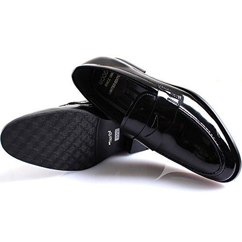 New Mooda Fashion Modern Penny Mocassini Slip On Leather Men Dress Shoes Black