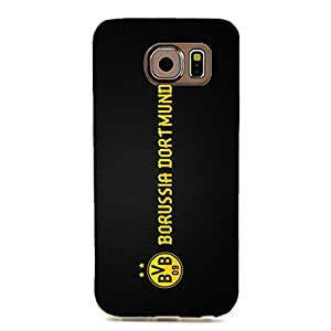 3D Borussia Dortmund Phone Case Creative Customized Protective Cover Case for Samsung Galaxy S6 Edge Dortmund BVB Logo