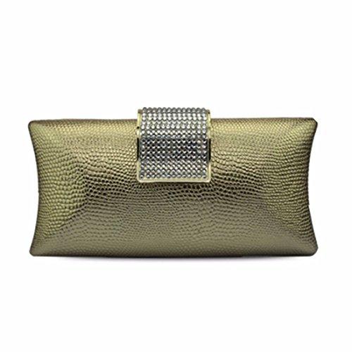 Lined Ladies Diamond Banquet Ladies' Handbag Banquet Golden Bag Silvery 1TqTIawrc