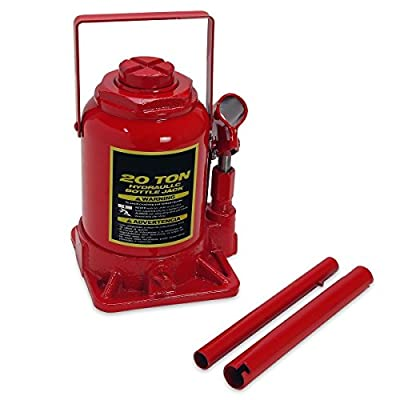 20 Ton Hydraulic Bottle Jack Stands Auto Shop Equipment Low Profile Heavy Duty