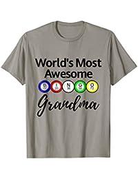World's Most Awesome Bingo Grandma Ball Player Shirt