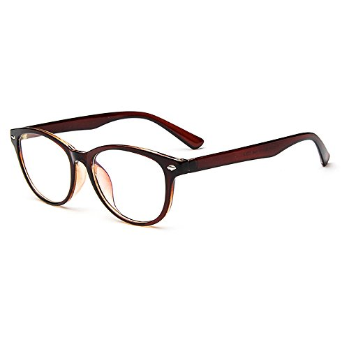 Lasree Fashion Reading Glasses +5.50 Lenses Mens Womens Readers Brown Frame Longsighted - Louis Vuitton Glasses Reading