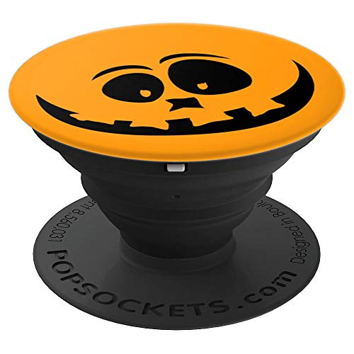 Creepy & Funny Pumpkin Face for Halloween - Trick or Treat - PopSockets Grip and Stand for Phones and Tablets