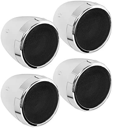 BOSS Audio Methods MC475BA Motorbike Speaker Sound System – Bluetooth, Amplified, Weatherproof, 3 Inch Audio system, Quantity Management, Additionally Use With ATVs and UTVs