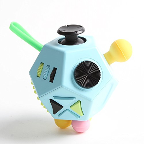 Xinyuanweiye Fidget Dice II Relieves Stress And Anxiety for Children and Adults (Blue)