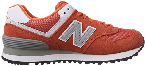 888546369719 - New Balance Men's ML574 Picnic Pack Collection Classic Running Shoe, Orange/Silver, 11.5 D US carousel main 6