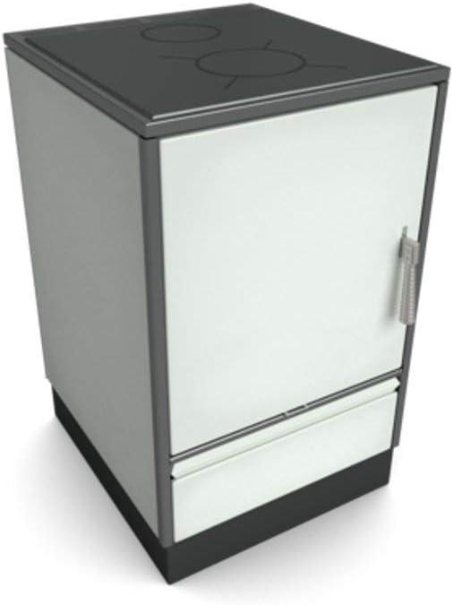Estufa de leña Glutos HH 03 sin Ventana de visualización y con Encimera acero 7kW