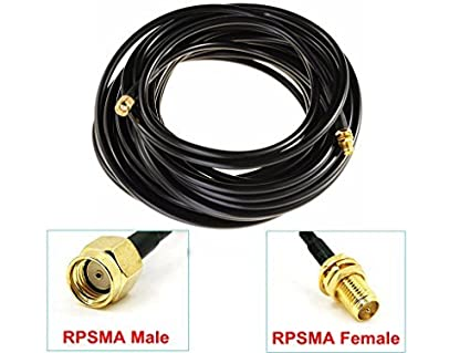 Lysignal Antenna Extension Cable RP-SMA Male to Female Connector (10ft) Lychee Limited 06-022-023