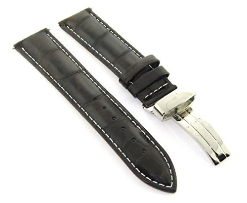 17-18-19-20-21-22-23-24MM LEATHER BAND STRAP DEPLOYMENT CLASP FOR MOVADO #1 -  Ewatchparts, EWP403756977-23