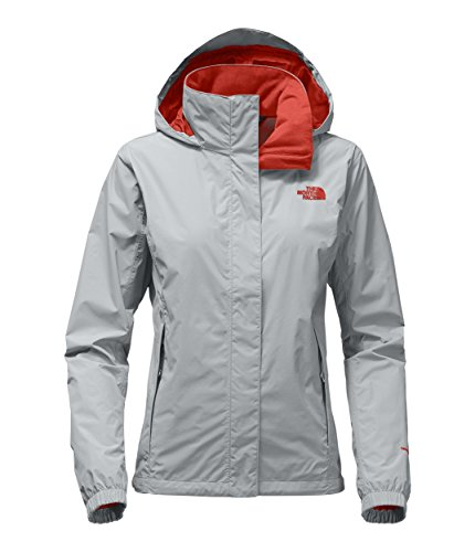 Price comparison product image The North Face Women's Resolve 2 Jacket High Rise Grey and Fire Brick Red - XS