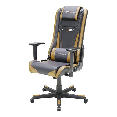 Dxracer EA01 Elite Comfortable and Ergonomic, Excellent Lumbar Support, Breathable Material, Perfect for eSports and Executive Desks (Black/Brown)