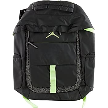 43d1335aa63a5a NIKE Jordan Logo Jumpman School Laptop Backpack Black Reflective  Graphic Volt Yellow
