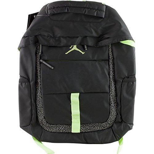 Price comparison product image NIKE Jordan Logo Jumpman School Laptop Backpack Black / Reflective Graphic / Volt Yellow