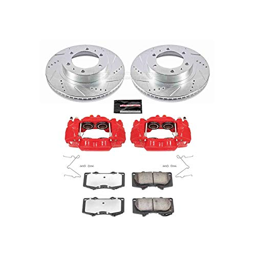 Power Stop KC137-36 Front Z36 Truck and Tow Brake Kit with Calipers ()