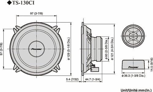 Pioneer TS-130CI 13cm 2-Wege Kompo Lautsprechersystem Boxen KFZ Auto PKW