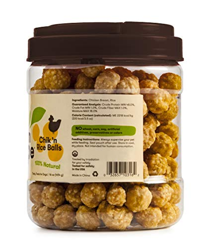 Pet 'n Shape Chik 'N Rice Balls - All Natural Dog Treats, 1 Lb