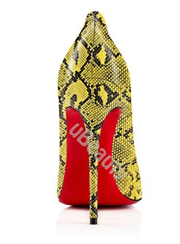 Chaussures hauts Serpentin Escarpins sexy Talon Grande Aiguille Serpentine Taille D Femmes talons uBeauty Stilettos UAZFnHnx