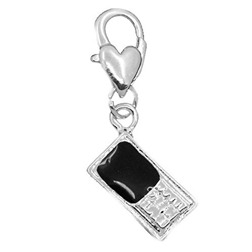 Cellphone Clip on Pendant for European Charm Jewelry w/ Lobster ()