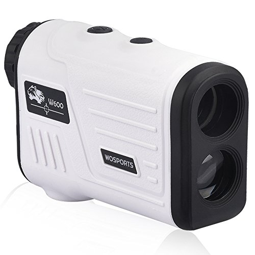 Wosports Golf Rangefinder, Laser Range Finder with Slope, Golf Trajectory Mode, Flag-Lock and Distance Speed Angle Measurement – Golf Scope