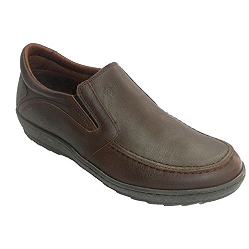 Fat seul homme de chaussures en caoutchouc sur les côtés Pitillos en brun