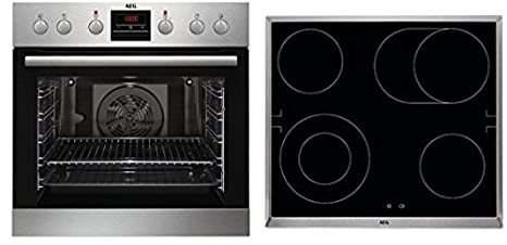 AEG Kombi 3000 P Cerámico Horno eléctrico sets de electrodoméstico de cocina - Sets de electrodomésticos