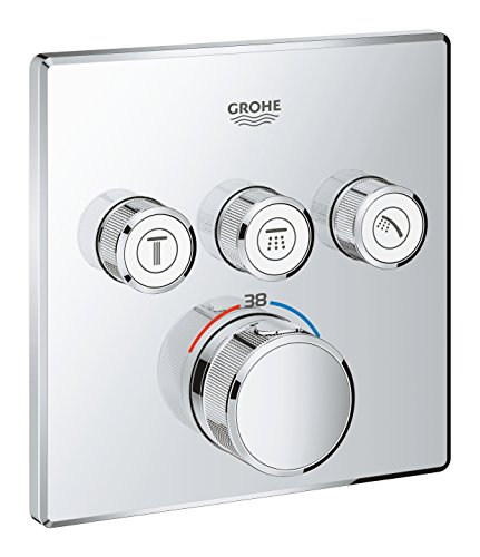- GROHE 29126000 | Grohtherm SmartControl Thermostat Concealed | Square | 3 Valves