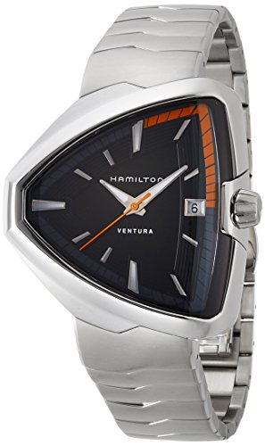 Hamilton Ventura Elvis80 Black Dial Stainless Steel Mens Watch H24551131