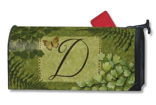 Nature's Script Monogram D Magnetic Mailbox (Leaves Magnetic Mailbox Cover)