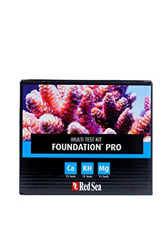 Red Sea Reef Foundation Test Kit - Calcium, Alkalinity & Magnesium (Reef Red Lab Sea)