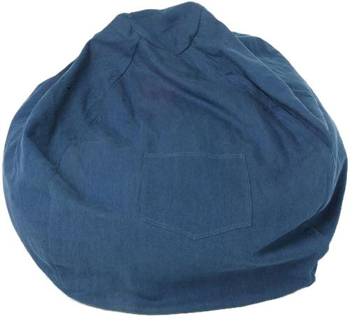 Fun Furnishings  Large Beanbag,  Denim by Fun Furnishings
