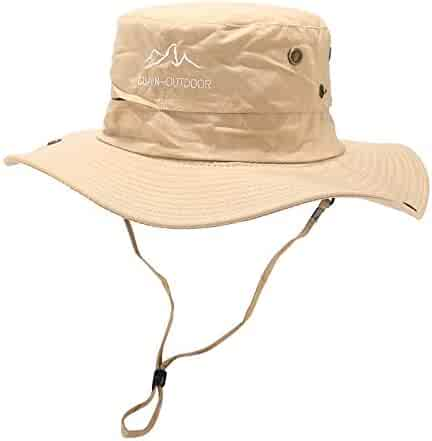 1ce52824 ballsFHK Summer Women's Ajustable Wide Brim UV Protection Sun Hats with  Straps,Outdoor Beach Fishing