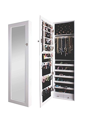 BTExpert Premium Wooden Jewelry Armoire Wall Mount Cabinet by BTEXPERT