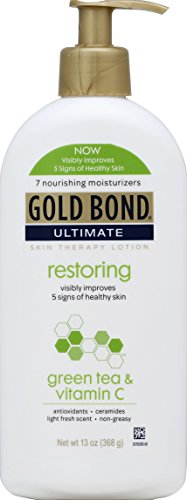 Gold Bond Ultimate Restoring Lotion, with Vitamin C and Green Tea, 13 Ounce Bottle, Pack of 2