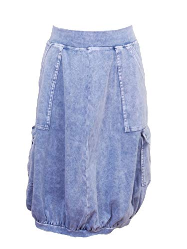 Hardtail Cargo Pocket Bubble Skirt B-153 Light Denim XS