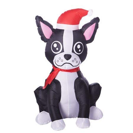 Boston Terrier Christmas Inflatable 3.5 ft 2018