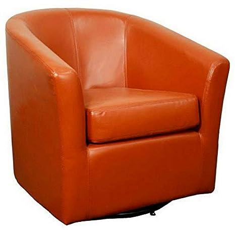 Amazon.com: Hebel Hayden Swivel Leather Accent Chair | Model ...