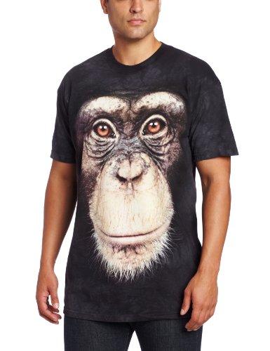 The Mountain Men's Chimp Face T-Shirt, Black, - Find Face