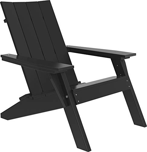 LuxCraft Urban Poly Adirondack Chair (Earthtone - Black) ()
