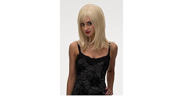 Annabelle de las pelucas ligera A tus de Rubio, de la cara de del marco de la, con corte A capas y cuidado de la peluca: Lilly: Amazon.es: Salud y cuidado ...