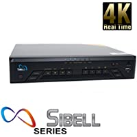 16 Channel 4K Onvif Compliant NVR Mini 1U supports up to 8 Megapixels 3264x2448, Pier 2 Pier, Realtime 30fps, H.264 and H.265 Duel Steaming Dual Core Processor, Free US Tech Support and Free Apps