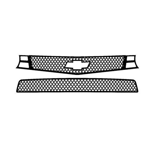 Ferreus Industries Black Powdercoat Diamond Mesh Grille Grill Insert Trim fits: 2010-2013 Chevy Camaro SS TRK-158-04black