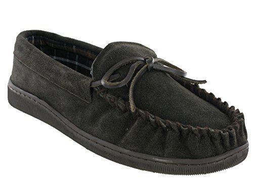 Moccasin Slippers Genuine Leather Flat Slip On Suede Outdoor Mens Brown apMiz7Pb